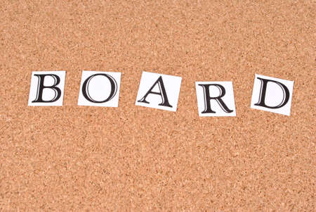Board -text on cork-board Stock Photo - 15552153