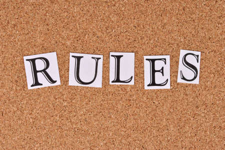 annoucement: Rules on cork-board