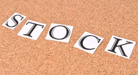 annoucement: Stock on cork-board
