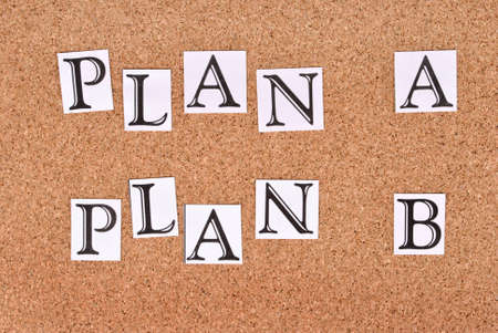 Plan A or plan B on cork-board Stock Photo - 15682576