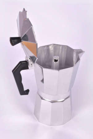 the brewer: Coffee brewer  on white background Stock Photo
