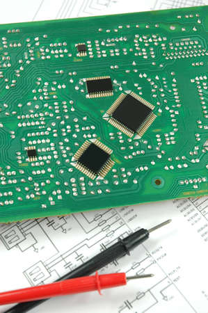 electronic scheme: printed circuit board and electronic scheme