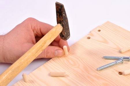 Assembling furniture with using tools