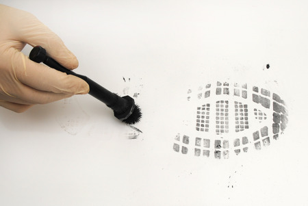 revealing and preserving the shoe print-investigation