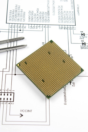 conductive: microprocessor and  electronic scheme