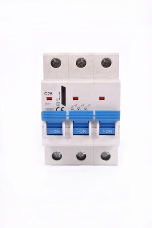 breaker: A 3 pole miniature circuit breaker