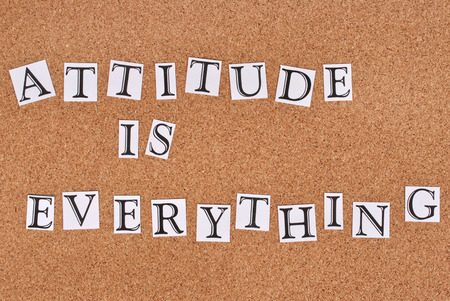 corkboard: Attitude is everything text on cork-board