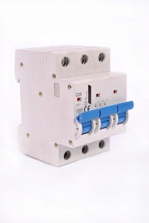 A 3 pole miniature circuit breaker