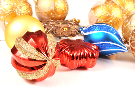 tree decorations: Christmas decorations ready for the tree Stock Photo