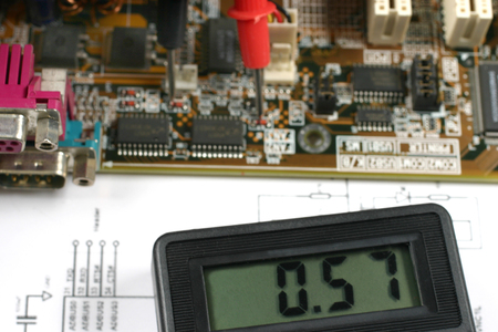 ic: electronic meter and circuit board