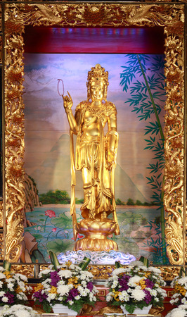 Goddess of mercy, Kuan Yin image of buddha Chinese art photo