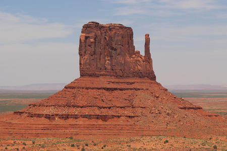 butte: West Mitten Butte in the Monument Valley