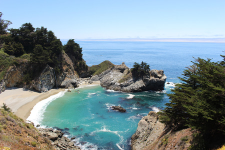 burns: McWay Falls in Julia Pfeiffer Burns State Park, California Stock Photo