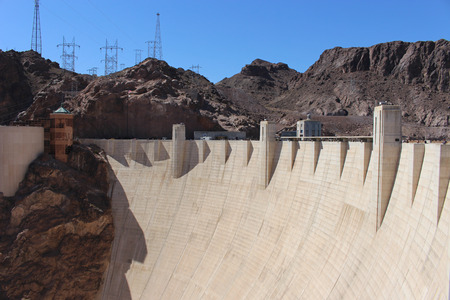 hoover: Hoover dam from the Arizona side