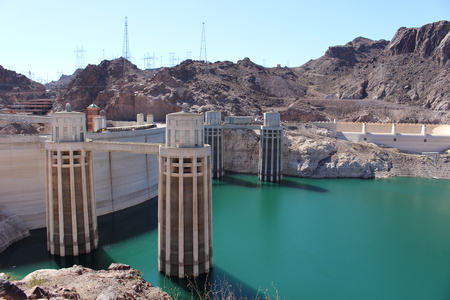 hoover: Hoover Dam from the Arizona side Editorial