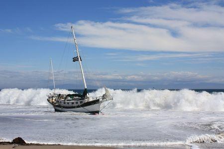 Pirate Ship on Shore Stock Photo - 5275514
