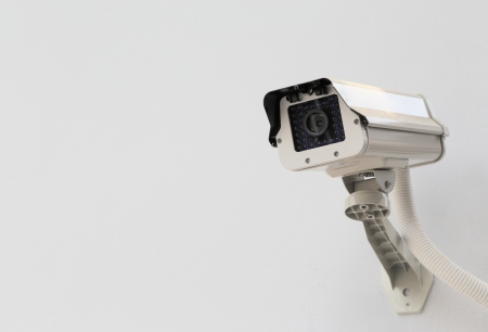 CCTV on White Wall photo