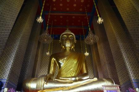 Big Buddha Statue in Way Kanlayanamit Chapel