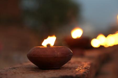 Old Candle on Old Temple Wall in Visak Day Reklamní fotografie