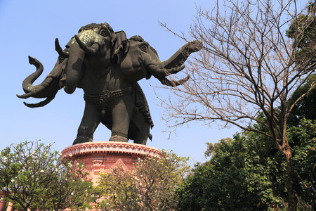 Giant Three Heads Elephant in Thailand