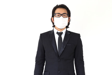 The Asian Businessman get sick. Reklamní fotografie