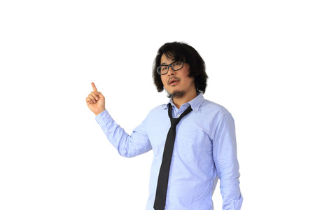 explained: The poor Asian businessman explained presentation.