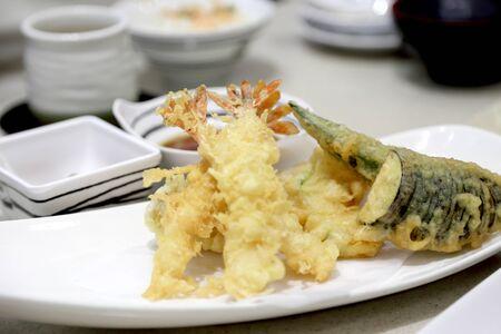 The Japnaese food named Tempura.