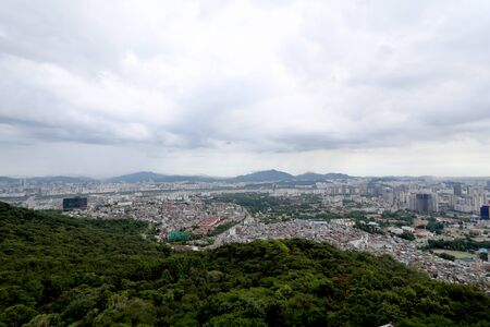 The view of Seoul in the day time.