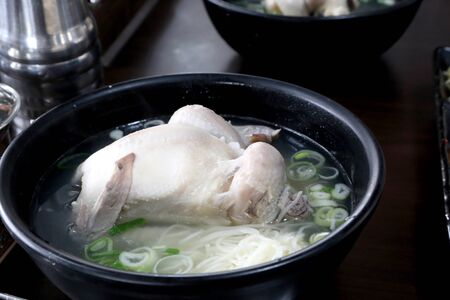 Ginseng chicken soup is the tradition food in South Korea. Stock Photo