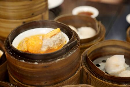 The group of Chinese foods named dim sum.