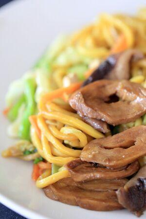 The stir fried noodle for vegetarian food festival.