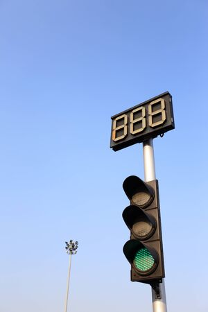 The traffic light showing green sign. Banque d'images