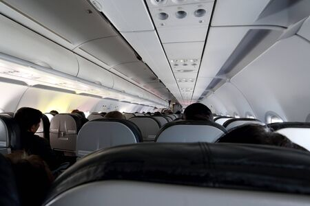 The picture of interior of aeroplane.