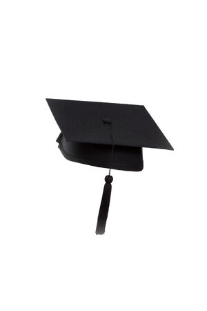 The graduate hat on the white background.