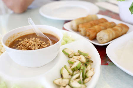 The Vietnamese food in Thai style dishes.
