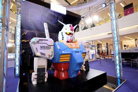 Bangkok, Thailand - September 29, 2020: The Gundam plastic kit event in Siam Paragon Shopping center at Bangkok, Thailand.