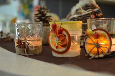 boughs: Handmade candle decor. Candle in glass jar, pine boughs, epsom salt, twine