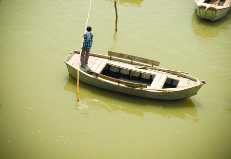 pradesh: Boats on Ganges, Uttar Pradesh India 2011