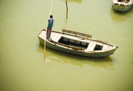 benares: Boats on Ganges, Uttar Pradesh India 2011