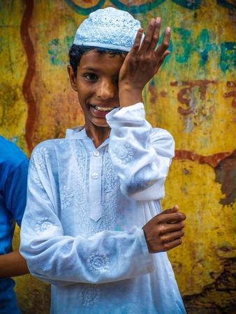 mohammedan: portrait of smiling Muslim boy.Image taken at Amroha, Uttar Pradesh,India. on summer 2011