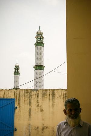 third world: Amroha, Utar Pradesh, India - 2011: Unidentified Indian people from slums Editorial