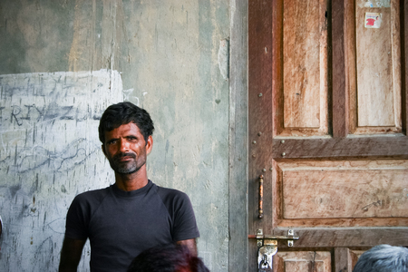 developing country: Amroha, Utar Pradesh, India - 2011: Unidentified Indian people from slums Editorial