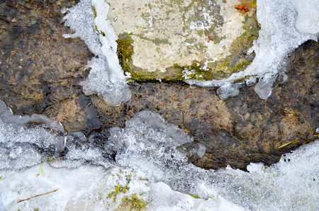beck: Ice water and rocks at the river