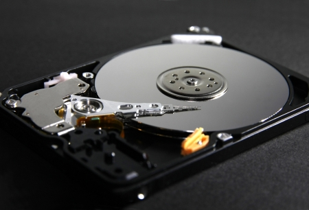 harddisk black background photo