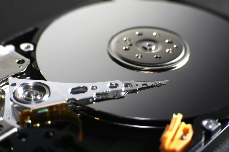 harddisk close up photo