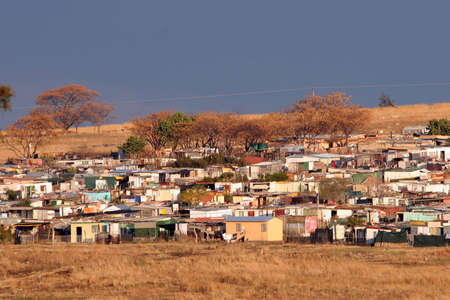 shanty: Rural squatter camp