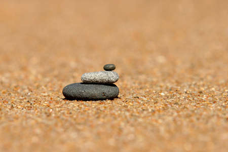 Stack of pebbles on the beach Stock Photo - 5571787