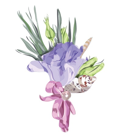 Wedding Floral Decor with Eustoma. Vector illustration. Stock Vector - 13213681