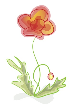 A flower, imitation of children's drawings. Vector illustration. Vector
