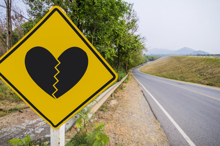 lovelorn: Traffic Signs editing to heartbroken by Clipping Path.